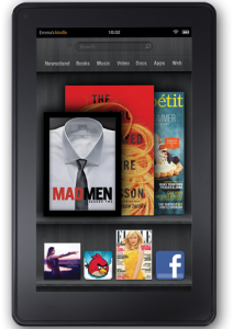 RightPatient healthcare biometrics patient identification system gave away a free Kindle Fire at the 2012 HFMA show.