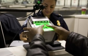 Fingerprint scanning at border control