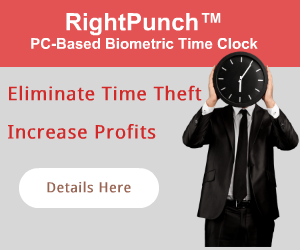 Fingerprint time clock to eliminate time and attendance fraud