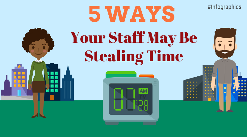 Infographics: 5 Ways Your Staff May Be Stealing Time