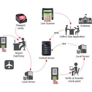 Immigration and Border Control System Workflow Diagram