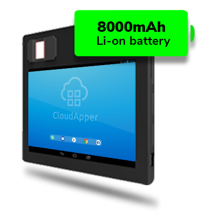 portable biometric tablet with the longest battery life
